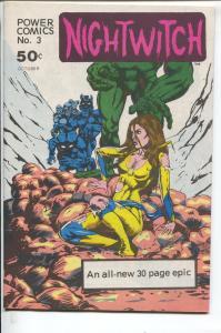 Power Comics #3 1977-high grade-Nightwitch -NM/MINT
