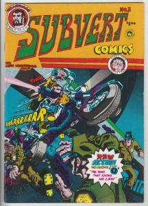 Subvert Comics #3 (Jan-76) VF- High-Grade Trashman
