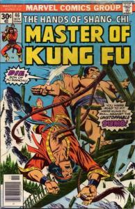 Master of Kung Fu #46 VF; Marvel   save on shipping - details inside