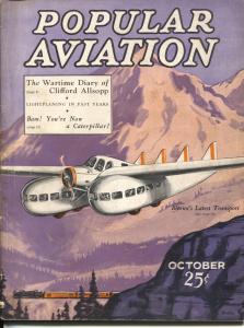 Popular Aviation 12/1931-HR. Bollin  fantasy cover-Clifford Allsopp-dirigible-VG