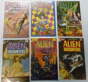 Alien Encounters (Eclipse) 6 Different, Average 7.0 Range 6.0-8.0 (1985+1986)