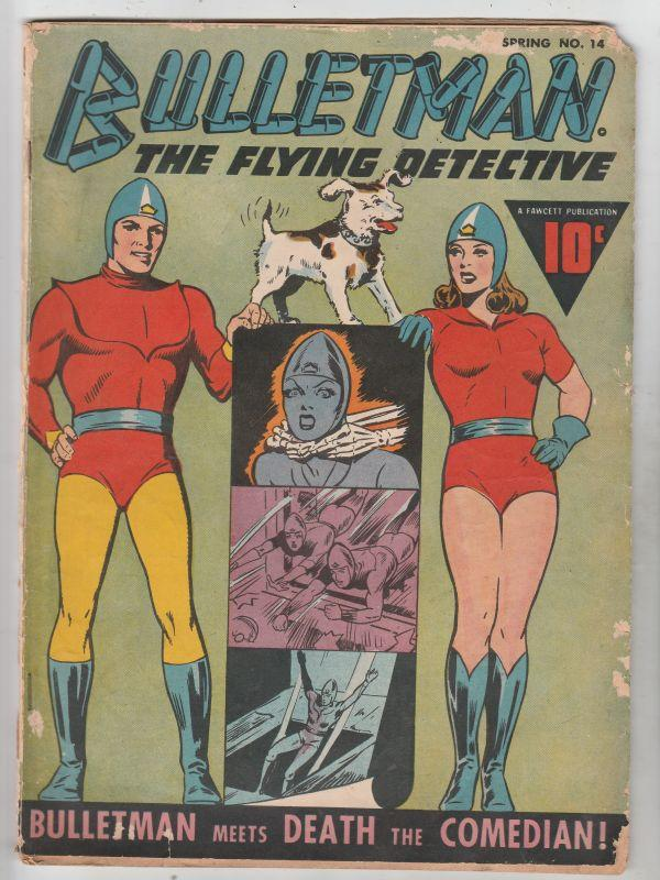 Bulletman #14 (Apr-46) VG Affordable-Grade Bulletman (Jim Barr), Bulletgirl (...