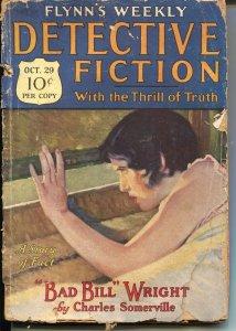 Flynn's Weekly Detective Fiction 10/29/1927-Sky Pirate-Good Girl Art-FR