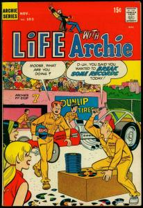 Life with Archie #103 1970- Drag race cover- Vinyl records VG+