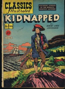 Classics Illustrated Kidnapped #46 HRN 47 ORIGINAL Vintage 1948 Dell Golden Age