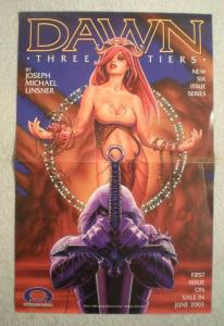 DAWN THREE TIERS Promo Poster, Joseph Linsner, Unused, more in our store