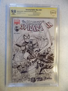 AMAZING SPIDER-MAN # 667 MARVEL SIGNED BY NEAL ADAMS CBCS 9.8. MONTREAL VARAINT