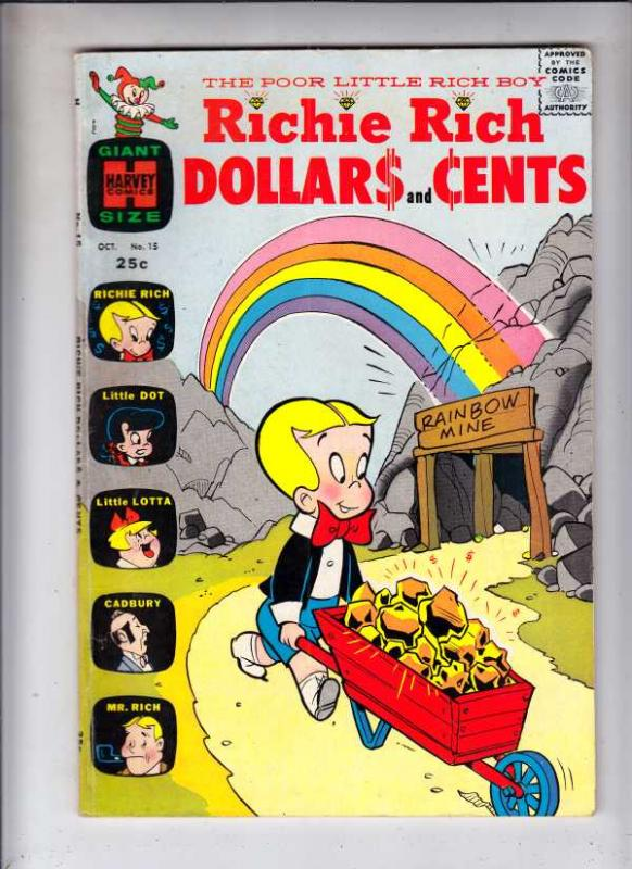 Richie Rich Dollars and Cents #15 (Oct-66) FN/VF Mid-High-Grade Richie Rich