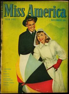 Miss America Vol. 5 #1 1946- Timely Comics- Patsy Walker- Fashions VG