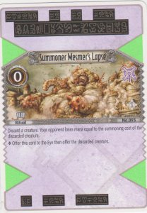 2007 Eye of Judgement #93 Summoner Mesmer's Lapse