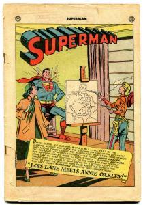 Superman #70 1951- Lois Lane meets Annie Oakley- Coverless reading copy