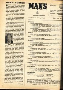 Man's Magazine July 1962-Cleopatra-Parachute cover-Mossad-cop killer