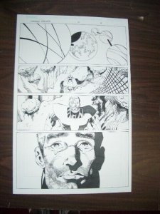 COMMON GROUNDS #2 PG 8 ORIGINAL COMIC ART-DAN JURGENS- FN