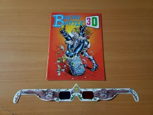 HOT Bikini Battle 3D #1 with Glasses ~ NEAR MINT NM ~ 1991 R Crumb Underground