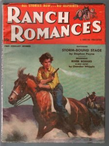 Ranch Romances 2/1947-Gerald McCann GGA cover-Katy Jurado feature-FN