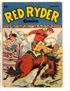 Red Ryder Comics #54 VG- Dell Golden Age Comic Book Western Cowboy F Harman JL11