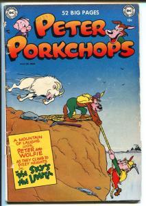 PETER PORKCHOPS #8 1951-DC COMICS-MOUNTAIN CLIMB COVER-OTTO FEVER ART-vg minus