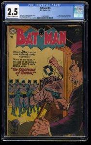Batman #85 CGC GD+ 2.5 Cream To Off White