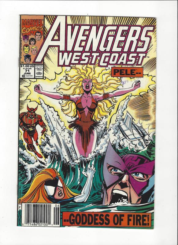 Avengers West Coast #71 Sunfire NM