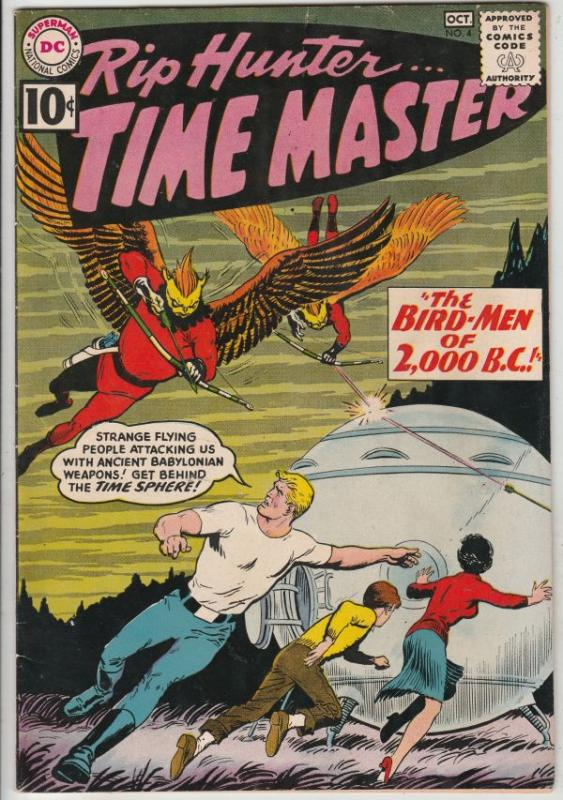 Rip Hunter Time Master #4 (Oct-61) VF+ High-Grade Rip Hunter, Jeff, Bonnie