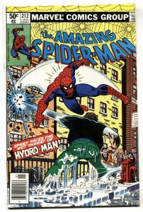 AMAZING SPIDER-MAN #212 First HYDRO MAN 1981 MARVEL fn+