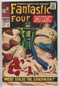 Fantastic Four #61 (Apr-67) FN/VF Mid-High-Grade Fantastic Four, Mr. Fantasti...