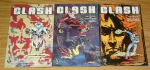 Clash #1-3 VF/NM complete series - tom veitch - adam kubert - prestige format 2