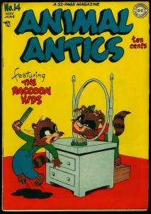 Animal Actics #14 1948- Raccoon Kids- Presto Pete- DC Funny Animals VG+