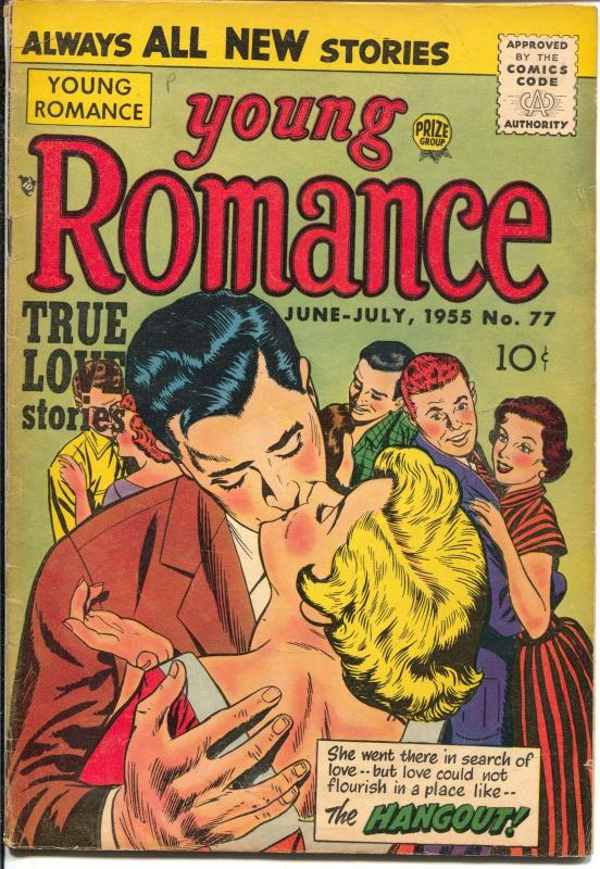 Young Romance #76 1955-Prize cool stories-lip lock cover-Ann