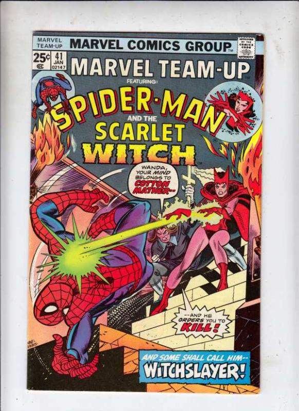 Marvel Team-Up #41 (Jan-76) VF- High-Grade Spider-Man