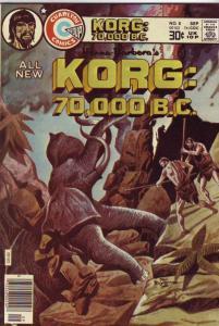 Korg:  70,000 B.C. #8 (Sep-76) NM- High-Grade Korg