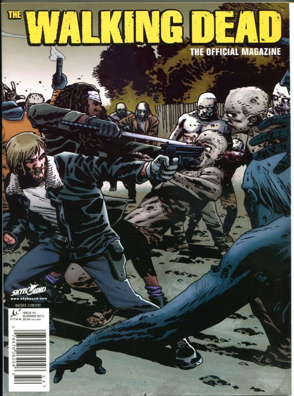 WALKING DEAD MAGAZINE #4, VF+, Zombies, Horror, Kirkman, 2012, more TWD in store