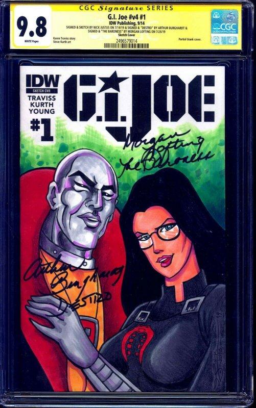 GI Joe #1 BLANK CGC SS 9.8 signed x3 Baroness Destro Sketch LOFTING BURGHARDT