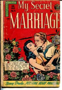 My Secret Marriage #15 1955-Superior-spicy art-step out of panels-Canadian-FR