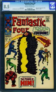 FANTASTIC FOUR #67-1967-HIM/WARLOCK ORIGIN-CGC 8.5-JACK KIRBY 0245667002