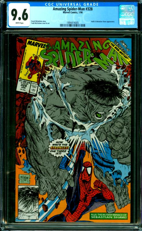 Amazing Spider-Man #328 CGC Graded 9.6