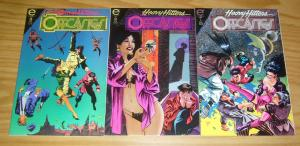 Offcastes #1-3 VF/NM complete series - epic comics  heavy hitters - mike vosburg