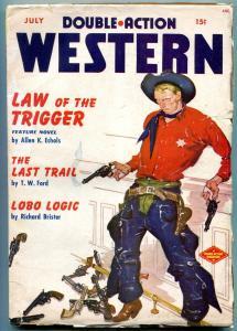 Double Action Western Pulp July 1950- Lobo Logic- Last Trail VG