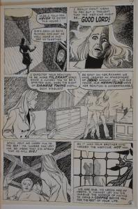 Original art, SIAMESE TWINS, pg 6, 10x15, 1976, more Bronze Horror age in store