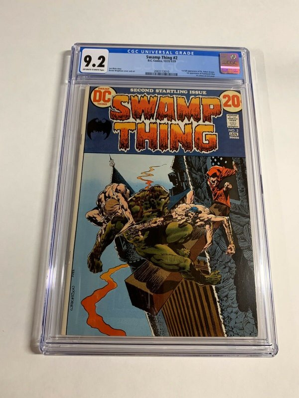 Swamp Thing #2 CGC graded 9.2
