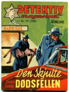 DETEKTIV MAGASINET #37 SEPT 17 1955-NORWEGIAN-GREAT CVR FN