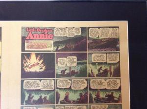 Little Orphan Annie Orig. Newspaper Comic Strip 1942 Atlanta Journal Framed BNT