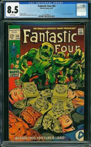 Fantastic Four #85 (Marvel, 1969) CGC 8.5