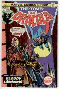 TOMB of DRACULA #34, Vampire, Voodoo,Wolfman, 1972, FN+