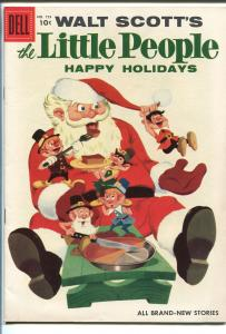 THE LITTLE PEOPLE #753 1956-DELL-CHRISTMAS-SANTA CLAUS COVER-FOUR COLOR-vf/nm