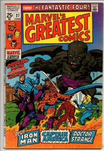 MARVELS GREATEST COMICS #27, FN/VF, Fantastic Four, Dragon Man, 1969 1970