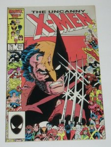 X-Men #211 1st Full Appearance of The Marauders 1986 Marvel VF/NM