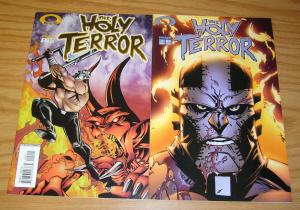 the Holy Terror #1-2 VF/NM complete series - pro wrestler w/ aztec power -hester