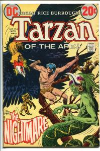 TARZAN #214 1972-DC-EDGAR RICE BURROUGHS-JOE KUBERT JUNGLE ART-vf