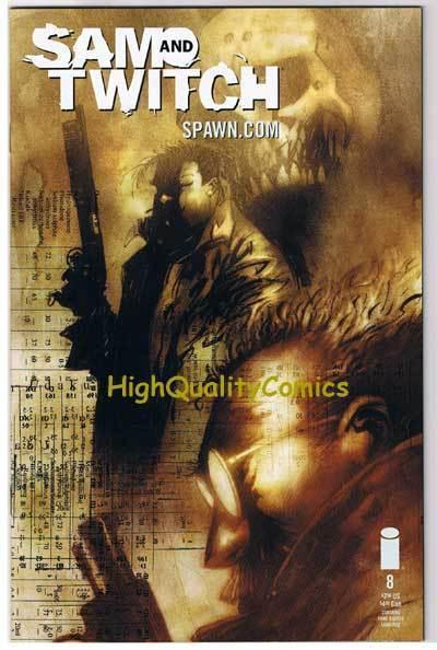SAM & TWITCH #8, NM+, Bendis, McFarlane, Spawn, 1999, more in store